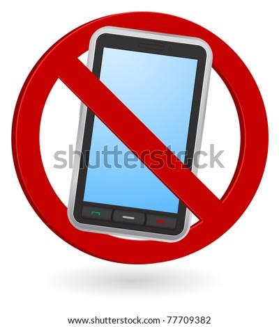 mobile phone forbidden - icon