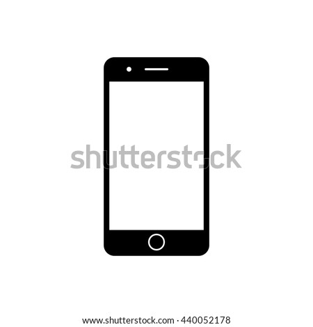 mobile phone icon black simple