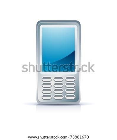 mobile phone icon on white