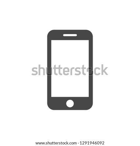 Mobile phone Icon. Simple flat symbol. Vector illustration