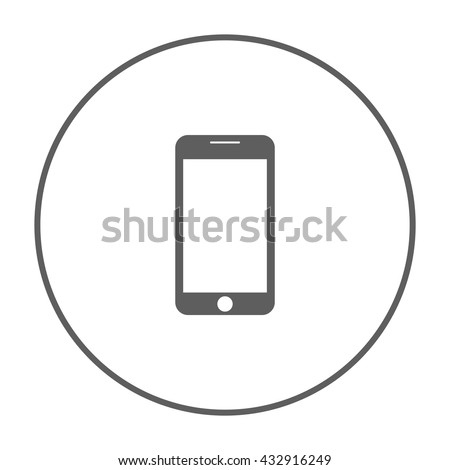 mobile phone icon ui vector eps jpg picture flat app