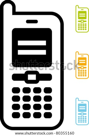 Mobile phone icon – Vector