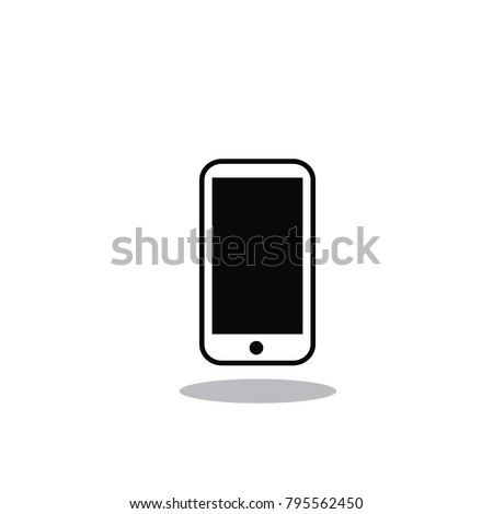 Mobile phone icon vector isolated on white background. Trendy mobile phone icon in flat style.