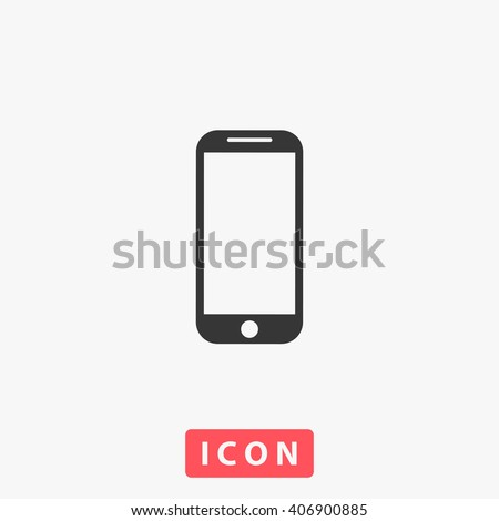 Mobile phone Icon vector. Simple flat symbol. Perfect Black pictogram illustration on white background.
