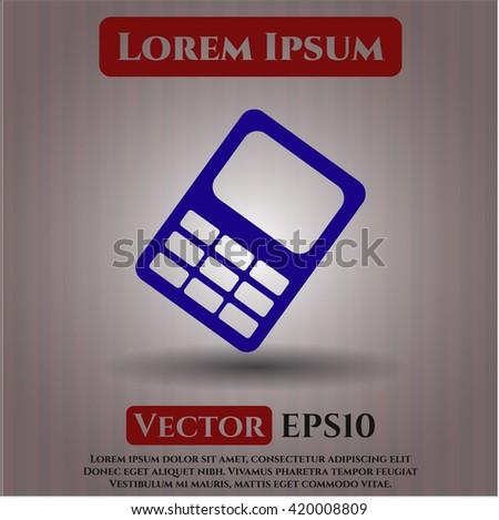 mobile phone icon vector symbol flat eps jpg app web