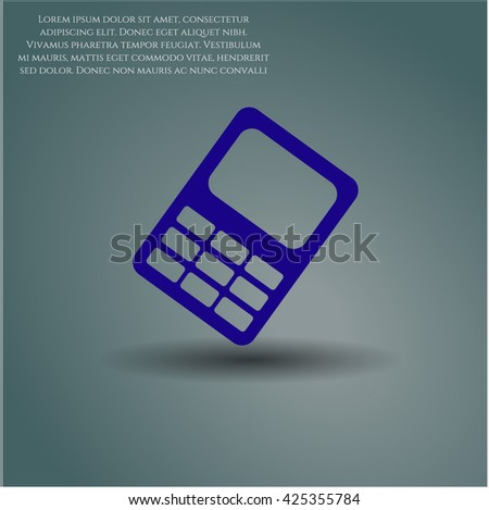 mobile phone icon vector symbol flat eps jpg app web