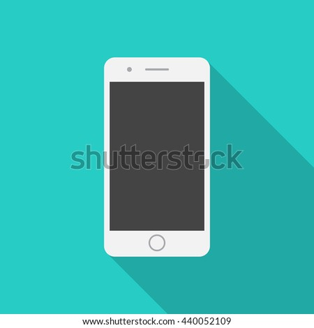 mobile phone icon with long