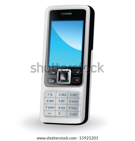 Mobile phone in vector - stock vector