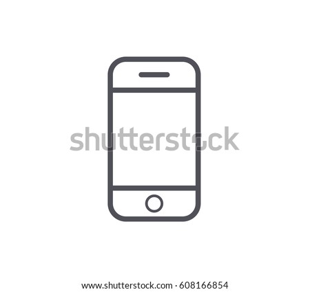 Mobile Phone Line Icon