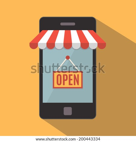 Mobile phone Mobile store concept Vector illustration