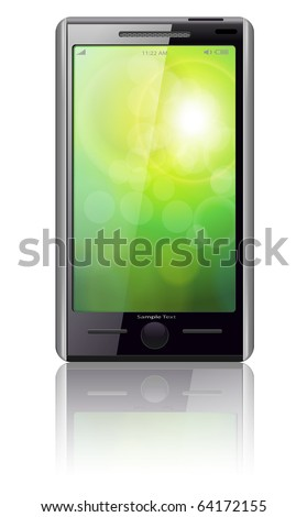 Mobile phone modern original design, vector