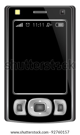 Mobile phone of abstract design, black. Eps10 - contains transparencies. Vector