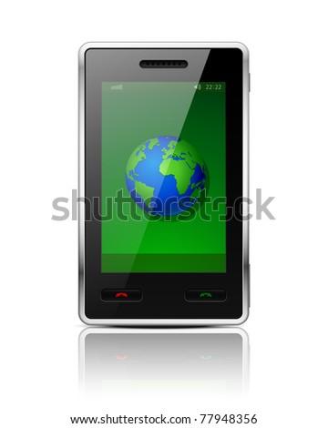 Mobile phone - original design. Vector illustration. Eps 10.