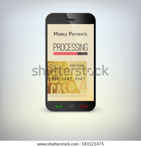 Mobile phone, payment process via a smartphone