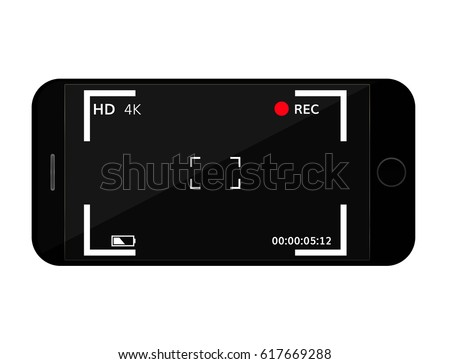 mobile phone screen with camera