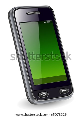 Mobile phone, smartphone original design, vector illustration.