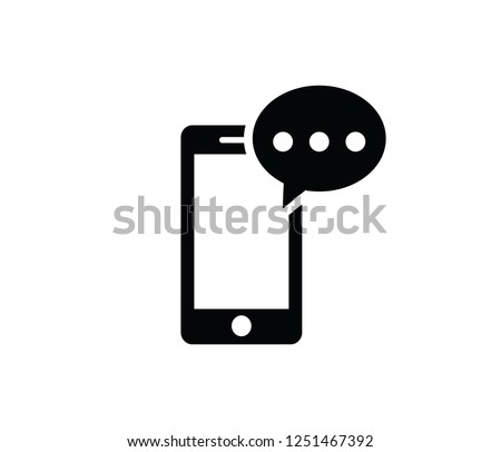 mobile phone sms icon vector