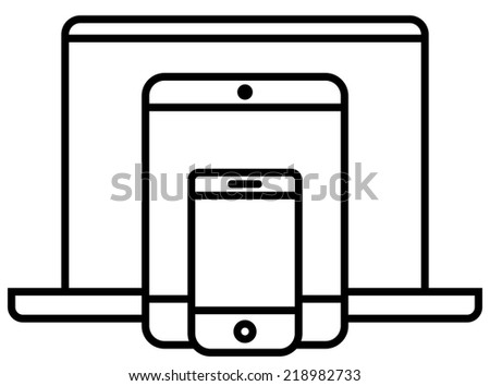 Mobile Tablet Icon Mobile Phone Tablet pc And
