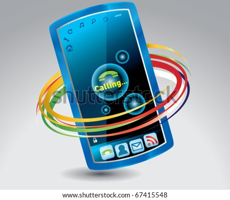 mobile phone, touch screen