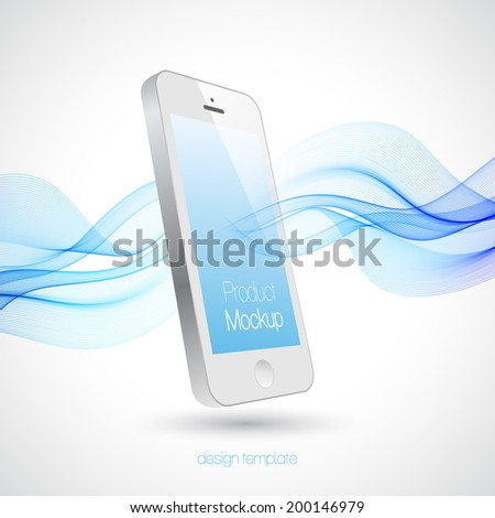 Mobile Phone Vector Design Template