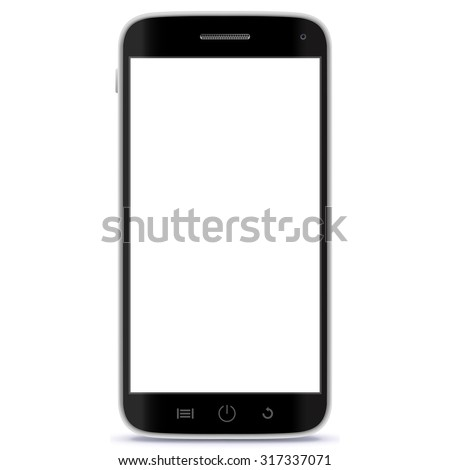 Mobile Phone Vector Illustration.