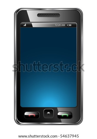 Mobile phone vector - Original design