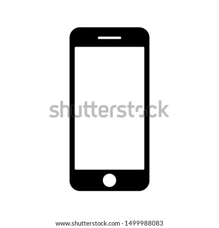 Mobile phone with blank screen. Flat style. vector illustration on white background