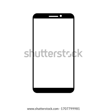 Mobile phone with blank screen. Flat style. vector illustration. Smartphone icon vector illustration