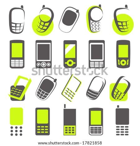 Mobile phones. Elements for design. Vector illustration.