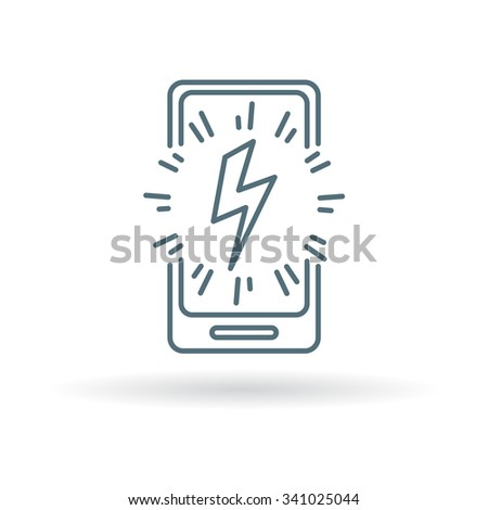 mobile power charge icon sign