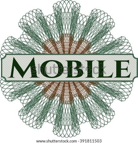 Mobile rosette or money style emblem