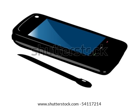 Mobile smart phone vector without icons - stock vector