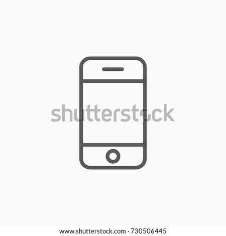 mobile, smartphone icon,vector illustration