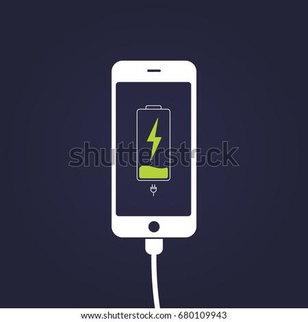 mobile smartphones charging on