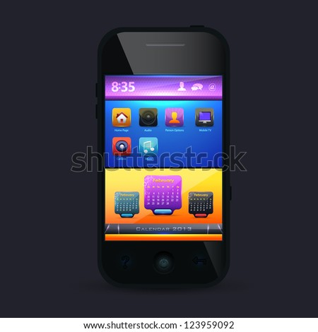 Mobile Template Vector Design