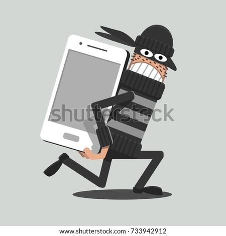mobile thief a thief stealing