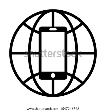 Mobile vector icon , mobile touch screen smartphone , web and mobile vector icon , internet mobile icon