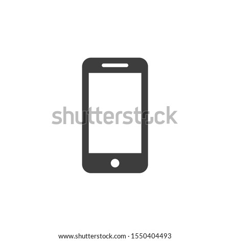 Mobile vector illustrator. Advertising and Media icon glyph style.