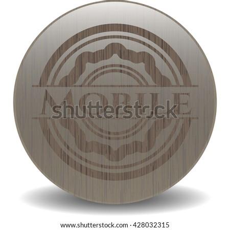 Mobile vintage wood emblem