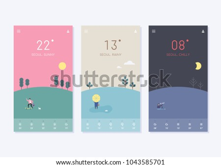 mobile Wallpapers templates vector illustration flat design