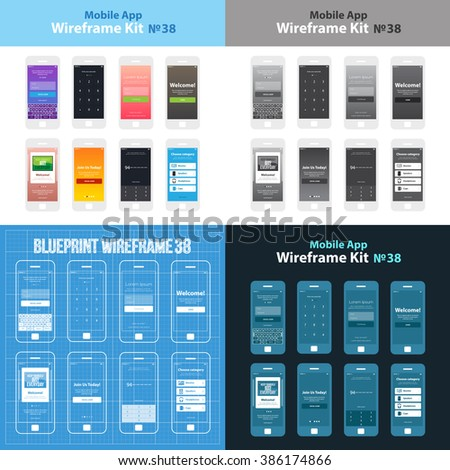 mobile wireframe app ui kit 38