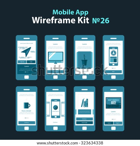 mobile wireframe app ui kit 26