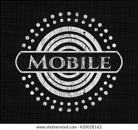 Mobile with chalkboard texture