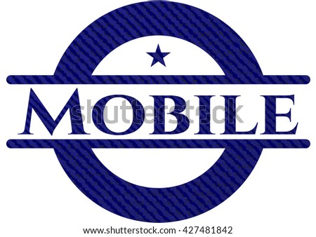 Mobile with denim texture
