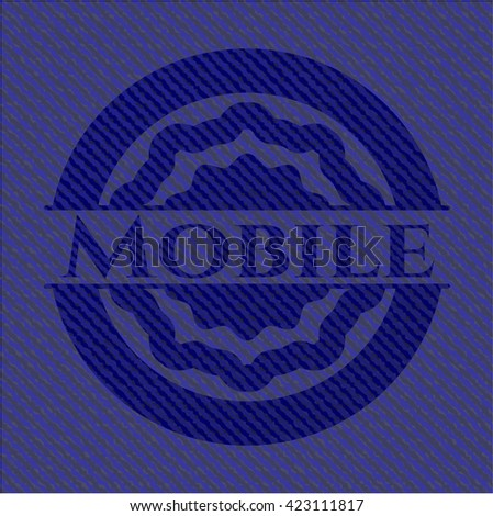 Mobile with jean texture