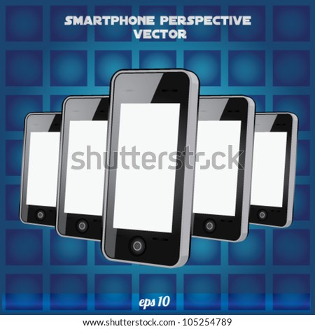 mobilephone Perspective Realistic vector