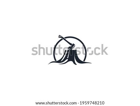 Mobilya logosu, Ahşap, Doğal, Desen ahşap Tree vector icon. Nature trees vector illustration logo design Stok fotoğraf ©