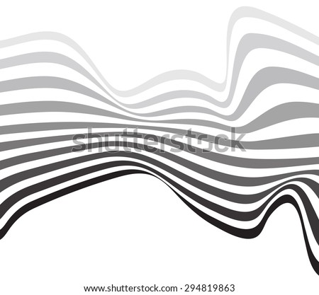 mobious optical art wave vector background black and white #294819863