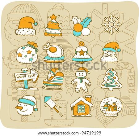 Mocha Series | Christmas icon set
