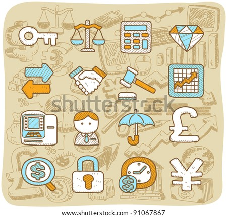 Mocha Series | finance, banking,business,of fice icons set - stock vector